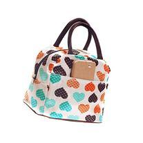 Wowlife Cute Love Heart Lunch Bag Tote Bag Lunch Organizer