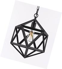 Wrought Iron Polyhedron Vintage Barn Metal Pendant
