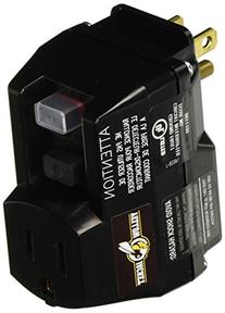 Yellow Jacket 2762 1-Outlet GFCI Plug-In Adapter, Black/Yellow
