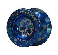 Yoyo King Blue Dr. Smalls 3/4 Sized Metal Yoyo with Narrow