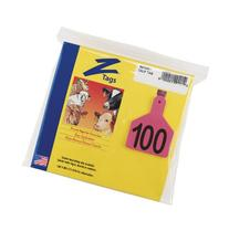 Z Tags 1-Piece Pre-Numbered Laser Print Tags for Calves,