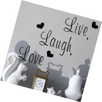 "Zooyoo "" Live, Laugh, Love "" Love Heart DIY Removable Wall"