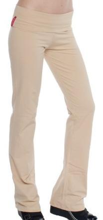 A.S Basic Foldover Waist Stretch Yoga Pants Long Tracksuit