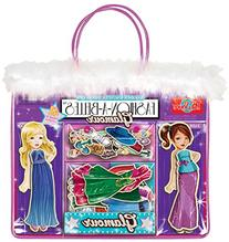 Fashion-A-Belles Glamour Wooden Magnetic Dress-Up Dolls