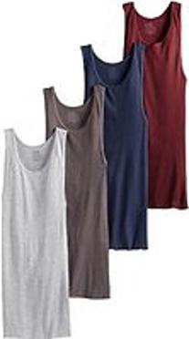 Fruit of the Loom Men's A-Shirt , Black/Gray, Medium