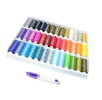 Seawhisper A Box of 39 Spools 250 yards Rainbow Colour