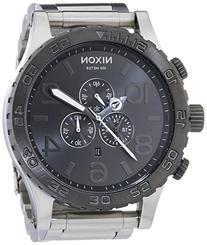 Nixon A083-1762 Mens The 51-30 Chrono Silver Gunmetal Watch