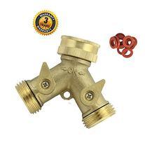 A1005 Heavy Duty Brass Y 2 Way Garden Hose Connector with