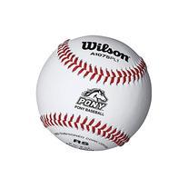 Wilson Pony League Raised Seam Baseball , White