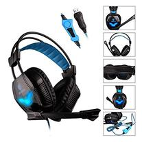 SADES A30S USB Stereo Gaming Headset Bass Vibration Over Ear