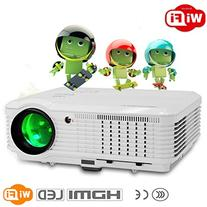 CAIWEI LED Video Projector 3600 Lumens 1080p, Wireless