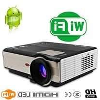 CAIWEI LED Home Theater Cinema Android Projector Support