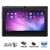 Alldaymall A88X 7'' Tablet - Android 4.4, Quad Core, HD 1024x600, Dual Camera, Bluetooth, Wi-Fi, 8GB, 3D Game Supported - Black