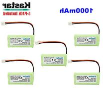 Kastar 5-PACK AAAX2 2.4V EH 1000mAh Ni-MH Rechargeable