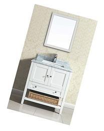 Dawn AAM2230-01 Solid Wood Frame Mirror, 22 x 30-Inch, Beige