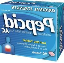Pepcid AC Original Strength Acid Reducer Tablets, 90 Count