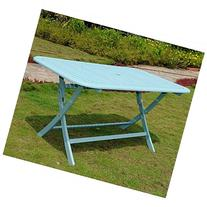 Chelsea Acacia Painted Folding Patio Dining Table