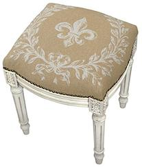Accent Furniture - Fleur De Lis Upholstered Stool - Vanity