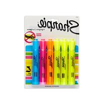 Sharpie Accent Tank-Style Highlighters, 6 Colored