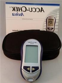 ACCU-CHEK Aviva Blood Glucose Meter, Case and Manual Only