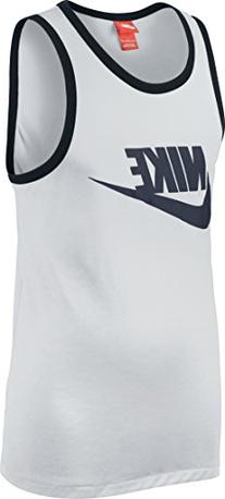Nike Men's Ace Sport Casual Tank Top-White-2XL