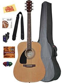 Fender Acoustic Guitar Bundle with Gig Bag, Tuner, Strings,