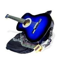 "38"" BLUE Acoustic Guitar Starter Beginner Package, Guitar,"