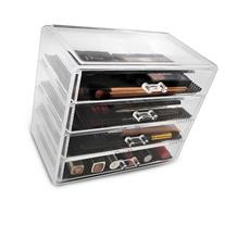Acrylic Drawer Makeup Organizer with 4 Removable Drawers