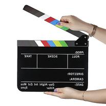 Neewer Dry Erase Director's Film Movie Clapboard Cut Action