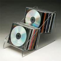 Two Tier CD Display-Polished Acrylic