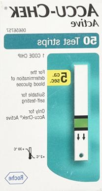 Active Diabetic Test Strips - Box of 50
