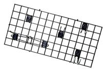 Organized Living Activity Organizer Wire Grid, 48-inch x 24-