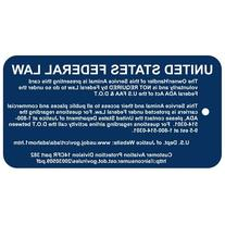 ADA & Federal Law Jumbo Engraved Tag