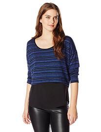 Jessica Simpson Women's Addy Hatchi Chiffon Top, Blue Print