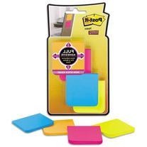 -- Full Adhesive Notes, 2 x 2, Assorted Bright Colors, 8/PK