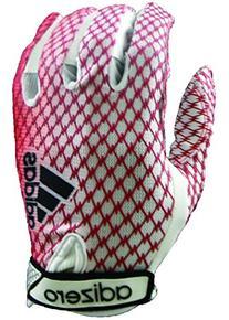 adidas Adizero 5 Star 3.0 Football Gloves, White/Red, Small