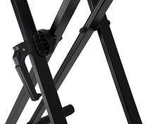 Gearlux Adjustable Double-Braced Keyboard Stand - Black