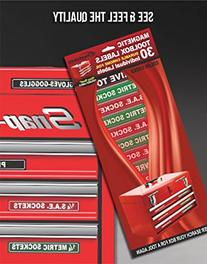 """""""Magnetic"""" Tool Box Organizer Labels  organize boxes,"""