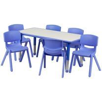 Flash Furniture 23.625''W x 47.25''L Rectangular Blue