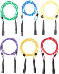 Sportime Adjustable Length Jump Ropes, 9 Feet, Set of 6