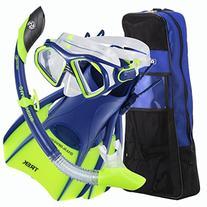 Admiral Lx Island Dry Lx Trek Travel Bag, Neon Blue - Large
