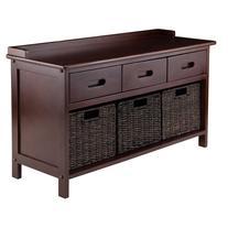 Adriana 4 pc. Storage Bench with 3 Foldable Beige Fabric