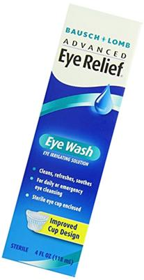 Bausch & Lomb Advanced Eye Relief Eye Wash, 4-Ounce Bottles