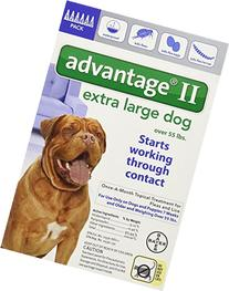 Advantage II Topical Flea Treatment for Dogs 55+ lbs.- 6-