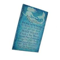 Advice From A Mermaid Printed Canvas Wall Hanging