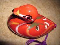 Aesthetic Ceramic Red Duck Ocarina Soprano G -- Cute  - Easy