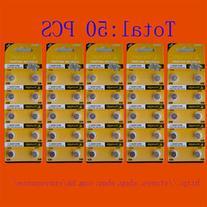 50PCS AG3 LR41 392 SR41SW alkaline battery TIANQIU