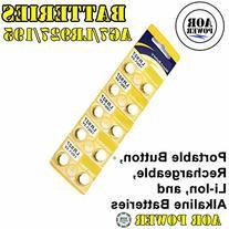 AOR Power® #AR143 1.5 Volt Alkaline AG7, LR927,195GP, 399,