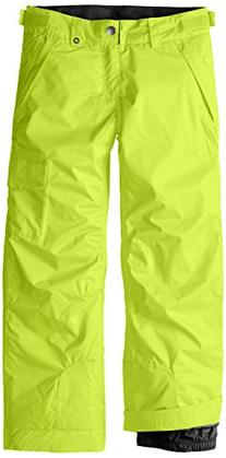 686 Girl's Agnes Insulated Pant, X-Small, Lime Ikat