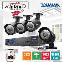 Annke 1080N AHD DVR/1080P NVR Security System with 1TB Hard
